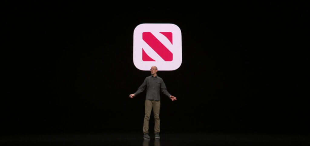 Die Vorstellung von Apple News+ bei der It's show time Keynote im Steve Jobs Theater am 25. März 2019. Apple News Plus