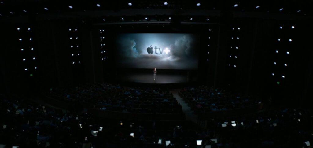 Im Steve Jobs Theater wird Apple TV+ (Apple TV Plus) vorgestellt. Ab Herbst 2019 kommen Eigenproduktionen in Form von Filmen, Serien, Dokumentationen usw. in über 100 Länder.