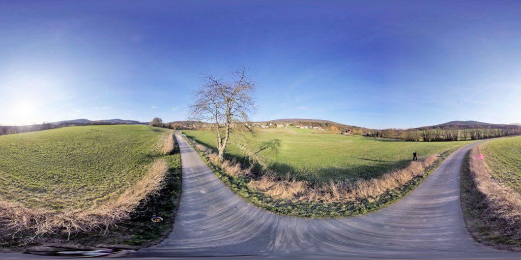 Beispiel eines 360-Grad-Fotos, das ich mit meiner Insta360 One X gemacht habe (Foto: Sir Apfelot).
