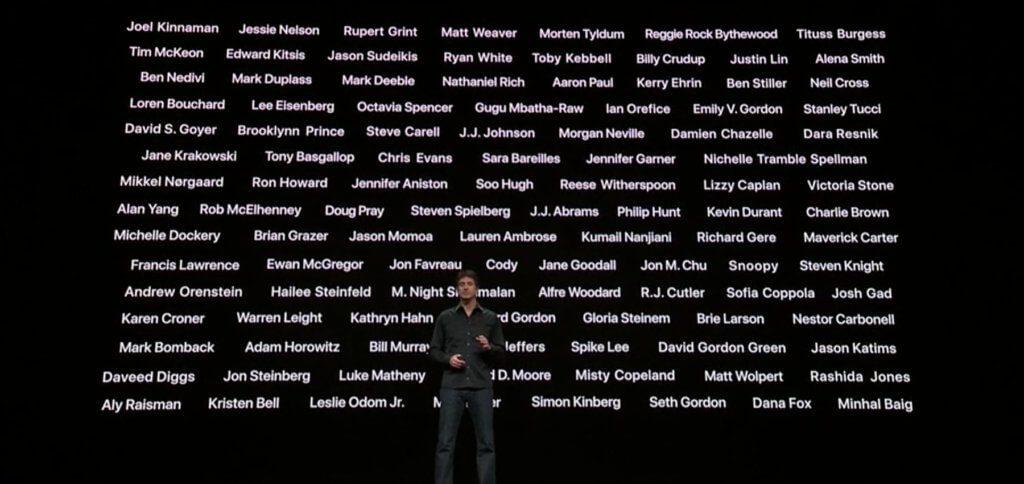 Steven Spielberg, Jennifer Aniston, Reese Witherspoon, Steve Carell, Octavia Spencer, J.J. Abrams, Jason Momoa, M. Night Shyamalan, Jon M. Chu und Oprah Winfrey sind nur einige der Mitwirkenden bei der Content-Schaffung für Apple TV+, das im Herbst 2019 an den Start geht.