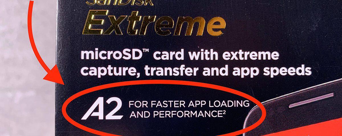 Für die Verwendung in Foto- oder Videokameras ist die App Performance Class nebensächlich. Wer die microSD-Karte jedoch im Smartphone zur Erweiterung des internen Speichers einsetzen möchte, sollte unbedingt eine A2-Karte kaufen (Foto: Sir Apfelot).