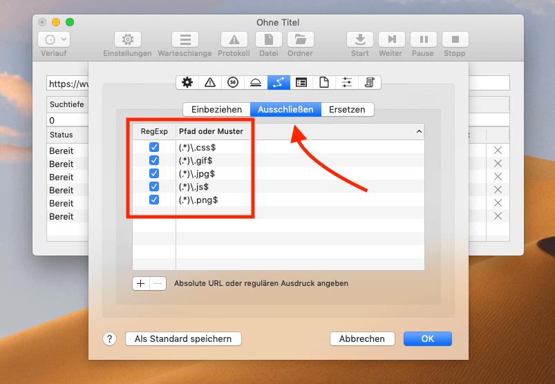 Dateien mit bestimmten Endungen im Dateinamen, lassen sich mit regulären Ausdrücken sehr einfach ausfiltern.
