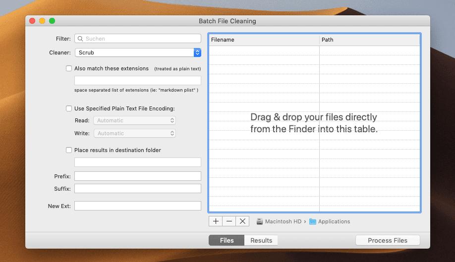 Mit der Batch-Funktion lassen sich direkt viele Textdateien auf einmal bearbeiten. Für Shopbetreiber sicher eine Funktion, die Gold wert ist.