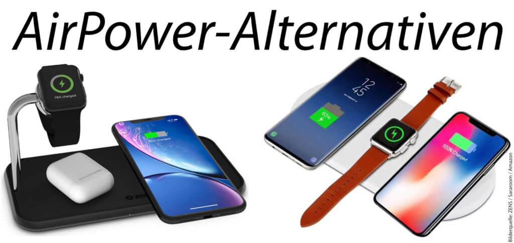 Ihr sucht eine Apple AirPower Alternative, um Qi-fähige Geräte kabellos laden zu können? Hier stelle ich euch Ladegeräte für iPhone, AirPods, Apple Watch und mehr vor - auch für den mobilen Einsatz!