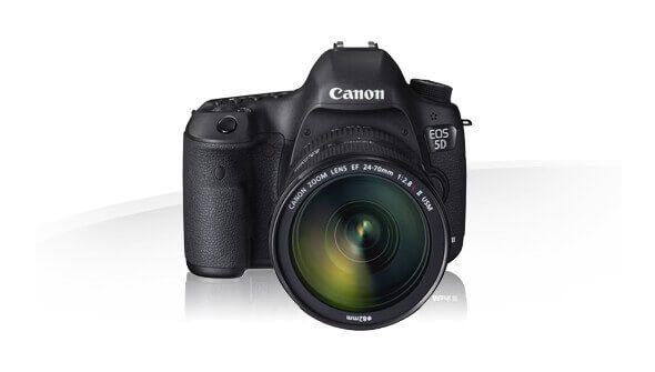 Die Canon EOS 5D Mark III ist eine typische DSLR: groß, schwer und unglaublich flexibel von den Einstellungen und Erweiterungsmöglichkeiten (Foto: Canon).