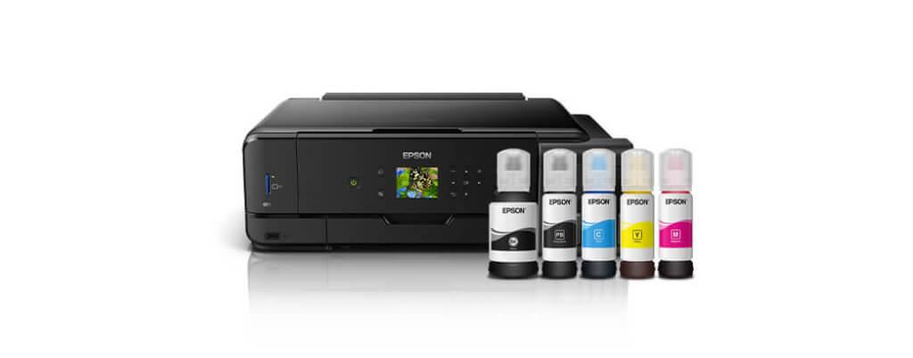 Das Epson EcoTank System erlaubt einfaches Nachfüllen, um die Druckkosten massiv zu senken (Foto: Amazon).