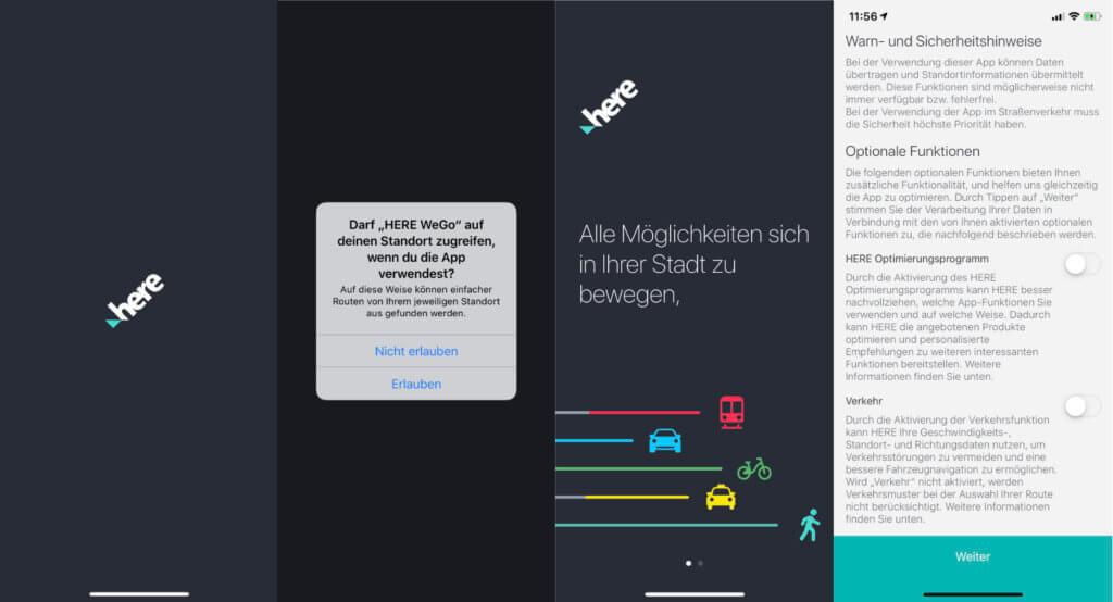 Nach dem HERE WeGo Download ist die App schnell betriebsbereit. Ein paar Einstellungen und los geht's!