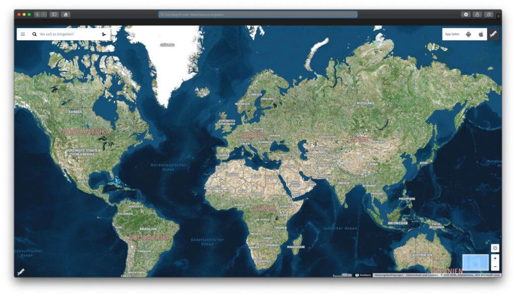 Das HERE WeGo Kartenmaterial könnt ihr an Mac und PC auch über den Browser aufrufen. Weitere Tipps gibt's in dieser kleinen HERE WeGo Bedienungsanleitung.