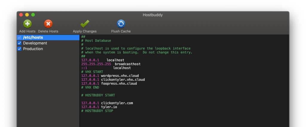 HostBuddy 2.0 unterstützt auch den DarkMode von macOS Mojave.