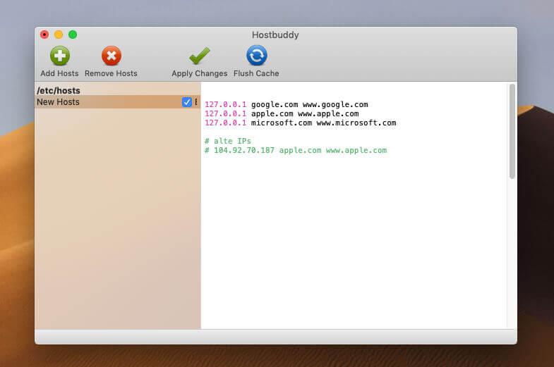 """Mit dem Ändern der Hosts-Datei kann man auch bekannte Domains auf den eigenen Mac """"umbiegen""""."""