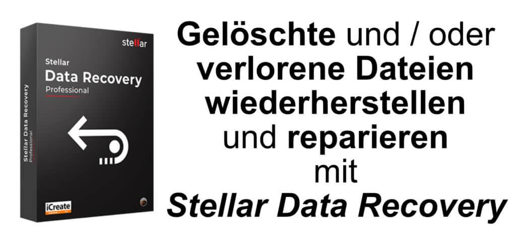 Sd Karte Daten Wiederherstellen.Stellar Data Recovery Gelöschte Dateien Wiederherstellen Sir Apfelot