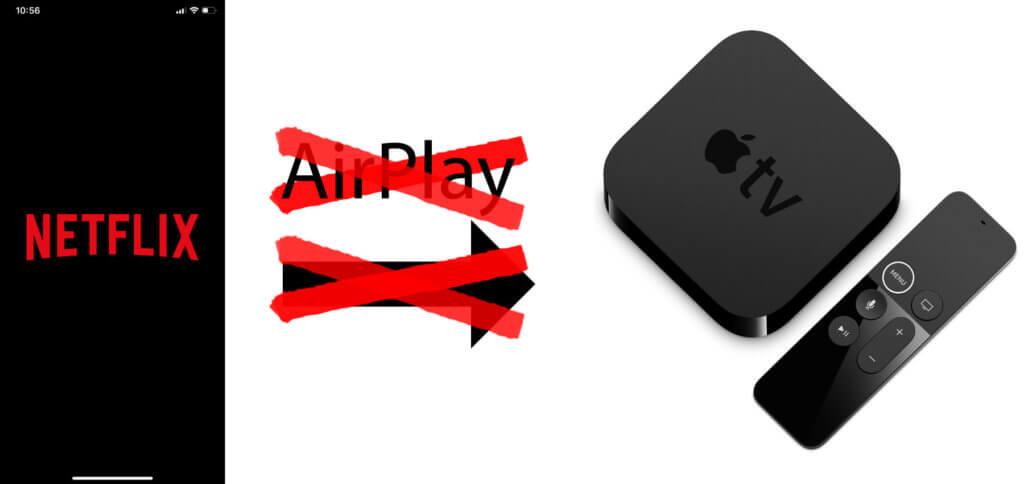 Filme und Serien von der Netflix iOS-App per AirPlay vom iPhone auf Apple TV übertragen? Das geht nun nicht mehr... (Produktbild: Apple.com)