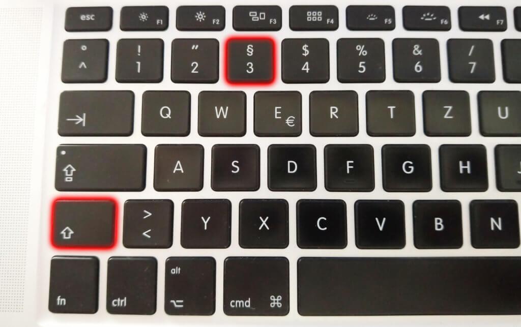 Das Paragraphenzeichen schreiben am Mac und Windows-PC ist per Tastatur super-einfach.