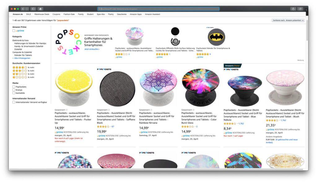 PopSockets kaufen, das geht auf der popsockets.de-Webseite oder bei Amazon. Letzteres bietet günstigere Preise und gratis Versand!