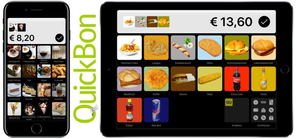QuickBon ist ein in Deutschland und Österreich rechtskonformes App-Kassensystem für moderne Händler. Es entspricht RKSV, GoBD und GDPdU.