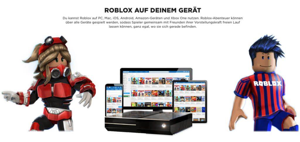 Die Roblox App zum Gestalten und Spielen von Community-Rollenspielen gibt es für iOS, Android, Mac, PC, Xbox und weitere Plattformen. Bilderquelle: Roblox.com