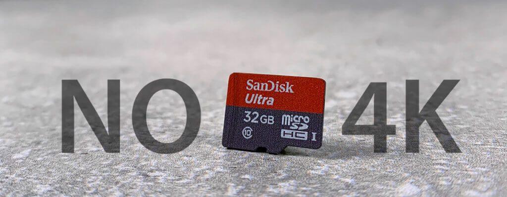 Die SanDisk Ultra ist für 4K-Video nicht zu empfehlen, da die Schreibgeschwindigkeit unter Umständen nicht reicht, um die Videodaten schnell genug wegzuspeichern (Foto: Sir Apfelot).