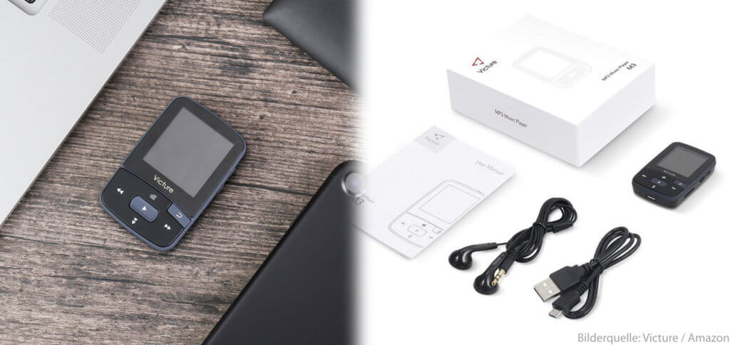 Der kleine Ansteck-MP3-Player mit Display für Jogger und Sportler von Victure ist günstig, leicht und praktisch. Hier findet ihr alle wichtigen Daten und Informationen.