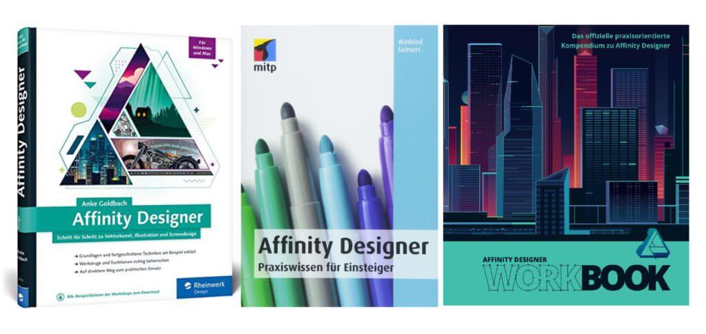 Ein Affinity Designer Handbuch von mitp oder Rheinwerk oder das offizielle Workbook? Welche Einleitungen, Tutorials und Download-Projekte für euch am besten sind, findet ihr auf den Amazon-Seiten heraus ;)