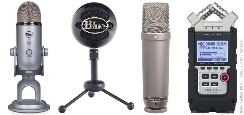 Diese ASMR Mikrofone bieten sehr gute Qualität und verschiedene Aufnahme-Charakteristika. Die Hersteller Blue, Rode und ZOOM bieten Kugel, Niere, Acht, Stereo und mehr ;)