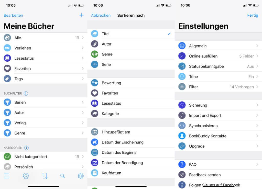 Zahlreiche Funktionen der BookBuddy App für iOS auf dem iPhone sorgen dafür, dass ihr eure Buchsammlung individuell verwalten könnt.