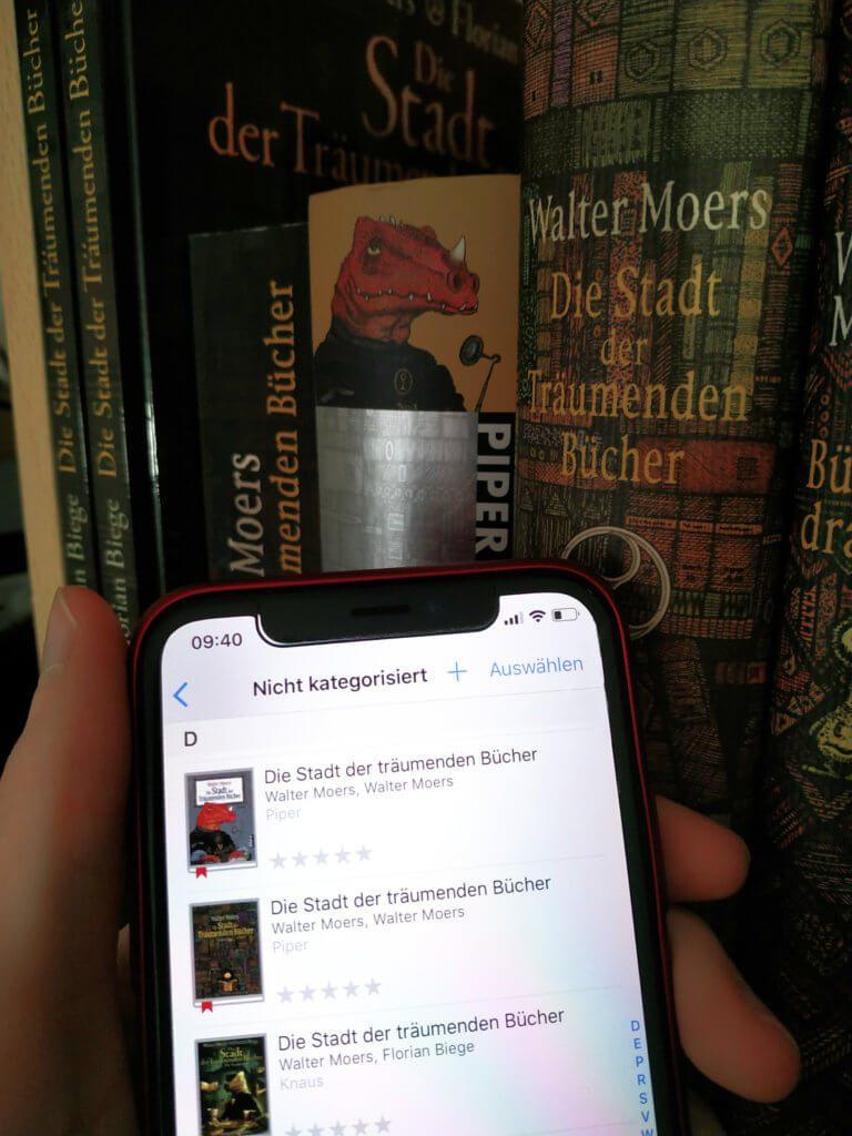 """Ob ihr nun alle möglichen """"Die Stadt der Träumenden Bücher""""-Ausgaben von Walter Moers sammelt oder andere Bücher katalogisieren wollt: BookBuddy ist eine große Hilfe ;)"""