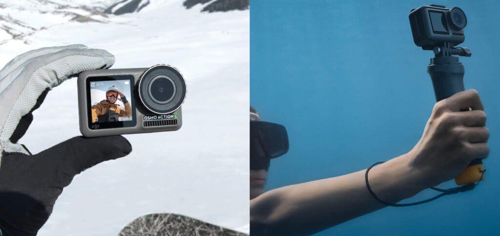 Die DJI Osmo Action ist die neue Sport-Kamera des Drohnen-Herstellers aus China. Eine Kampfansage an GoPro und mit den technischen Daten sowie dem Preis eine klare Alternative! Bilder: DJI