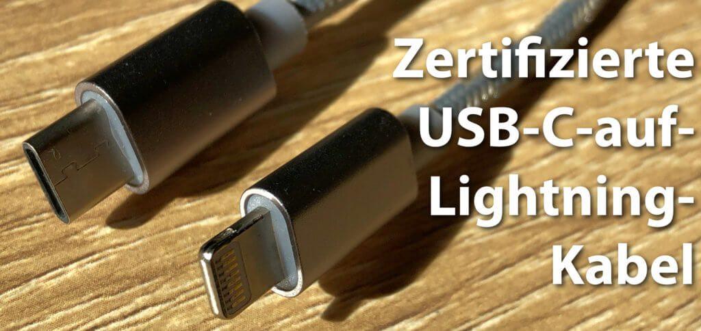 Hier findet ihr die Übersicht aktueller USB-C-auf-Lightning-Kabel mit MFi-Zertifizierung (Stand: Mai 2019) von Anker, Belkin, UGREEN, Wicked und natürlich Apple.