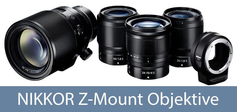 Für die Nikon Z7 und Z6 benötigt man Nikkor Z Objektive mit dem neuen Z-Mount (Foto: Nikon).