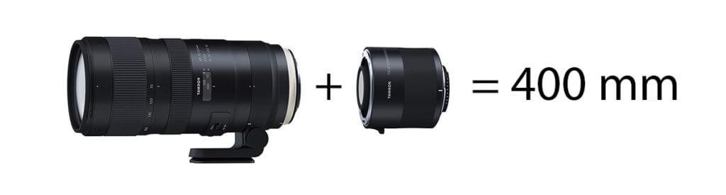 Mit dem 2-fach-Telekonverter von Tamron macht man auf dem 70-200 mm Objektiv ein 140-400 mm Telezoom.