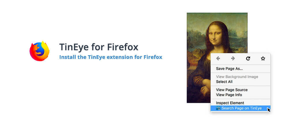 Mit den TinEye Plugins für Chrome, Firefox, Safari und Opera läßt sich die reverse Bildersuche direkt im Browser integrieren.