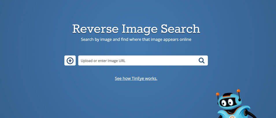 Die Tineye-Suchmaske ist sehr einfach gehalten. Einfach ein Foto hochladen oder die URL zu einem Foto angeben und los geht's!