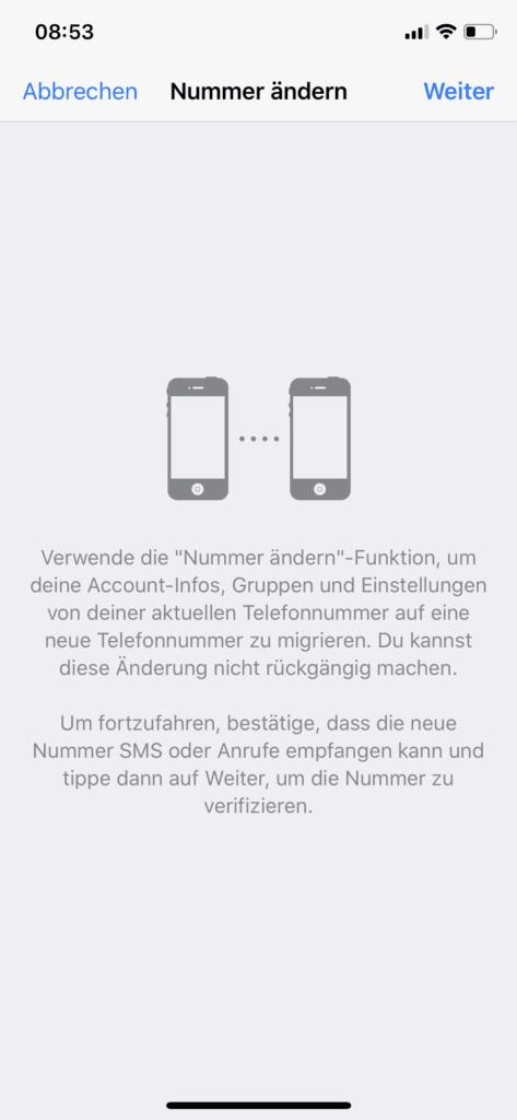 WhatsApp Telefonnummer wechseln – so startet ihr unter iOS (Screenshot unter iOS 12 auf dem iPhone X).