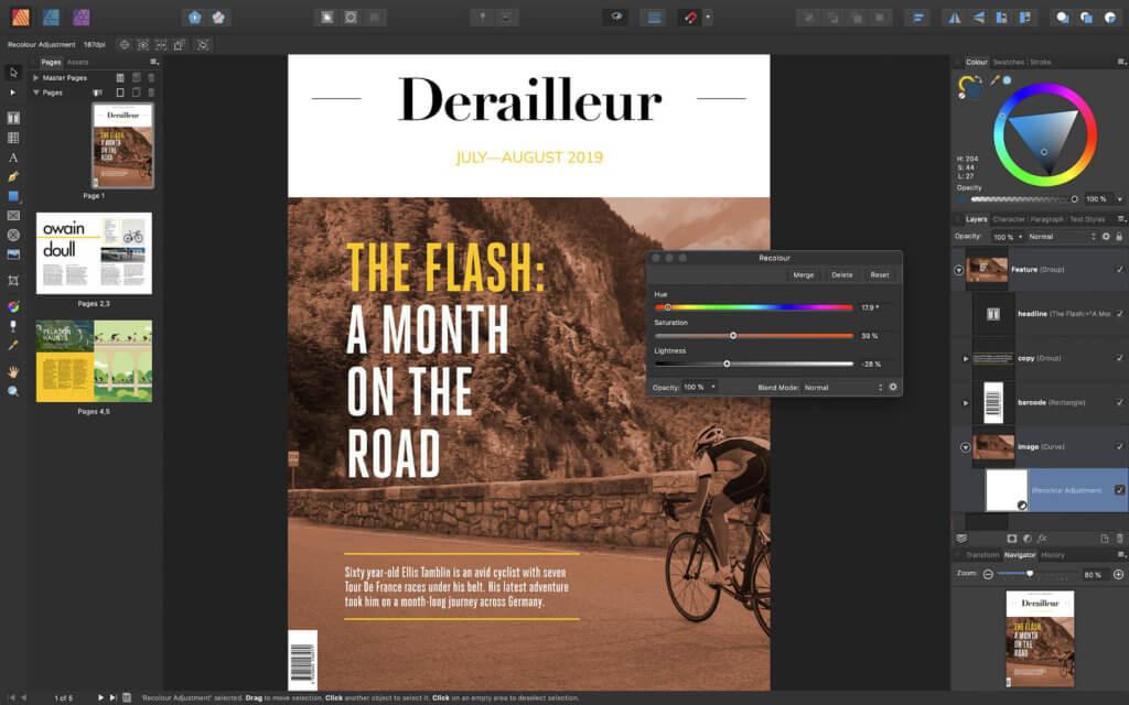 Vom Cover bis zur letzten Seite: Affinity Publisher bietet Tools für die professionelle Erstellung von Zeitschriften, Büchern und mehr.