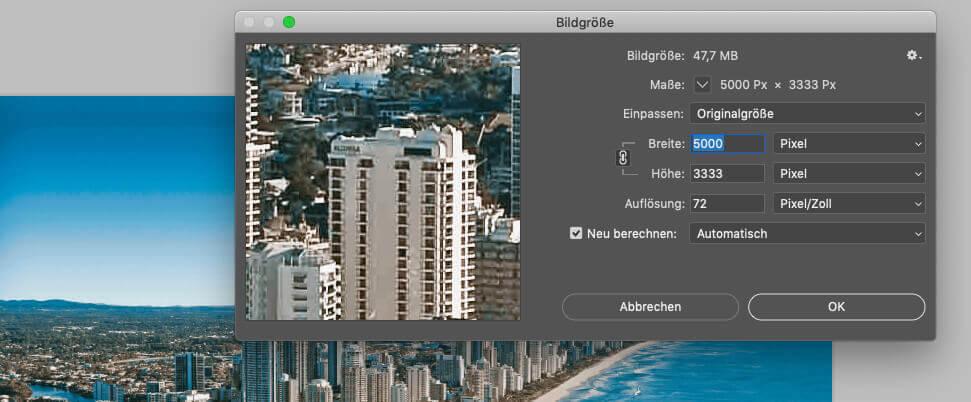Mit Photoshop habe ich mir mal die Auflösung einiger Fotos von der Wallpaper-App angeschaut.