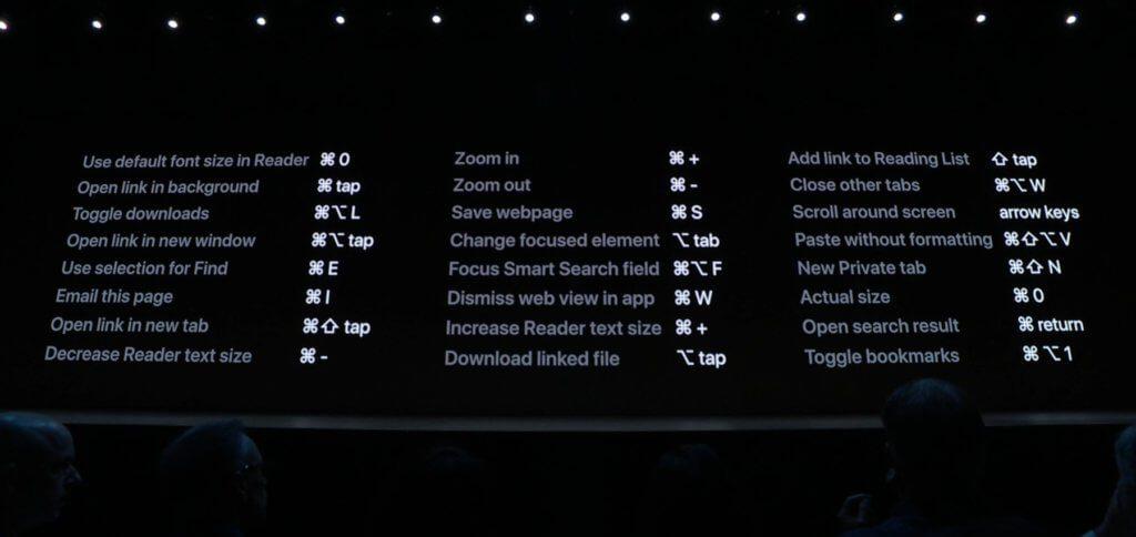 Auf dem Display sind einige der neuen iPadOS Safari-Tastenkombinationen vielleicht schwer umzusetzen. Hier lohnt sich eine Bluetooth-Tastatur.
