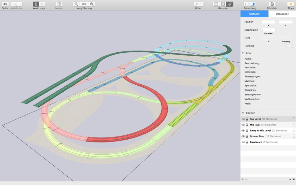 Die RailModeller Pro App für den Apple Mac bringt moderne Möglichkeiten zum Planen, Bauen und Steuern der Eisenbahnplatte mit.