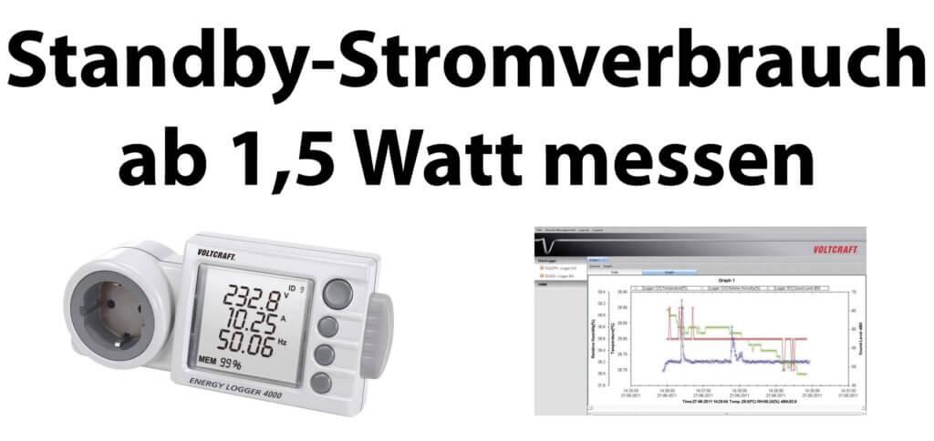 Den Standby-Stromverbrauch ab 1,5 Watt zuverlässig messen, das geht mit den TRMS Energy Logger Geräten von Voltcraft. Produktbilder: Voltcraft / Conrad