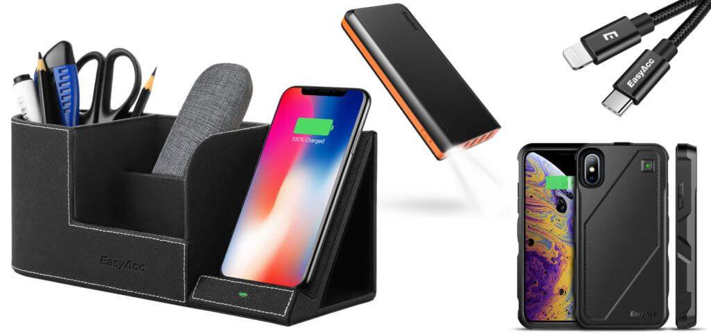 Verschiedenes Zubehör fürs Apple iPhone, iPad, den iPod Touch sowie Samsung-Smartphones und andere Geräte gibt es vom Hersteller EasyAcc derzeit günstiger.