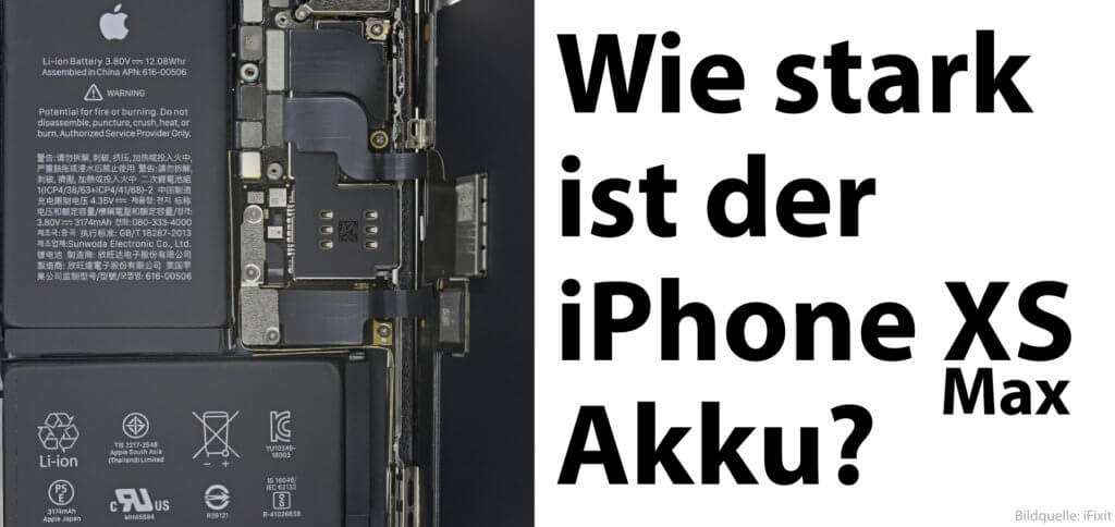 Die Apple iPhone XS Max Akku-Kapazität in mAh (Nennkapazität) und auch die Werte in V und Wh findet ihr hier. Dazu habe ich noch ein paar weitere Informationen gepackt.