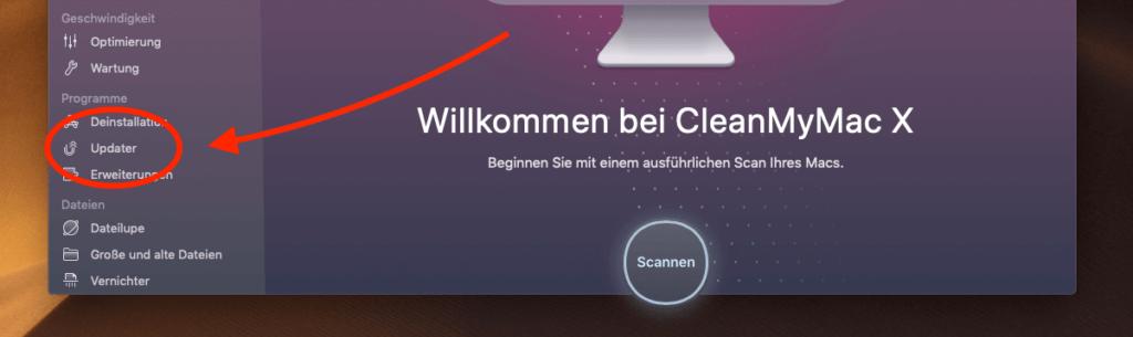 Auch CleanMyMac X bietet an, sich um Updates zu kümmern. Was es im Vergleich zu MacUpdater bringt, lest ihr weiter unten.