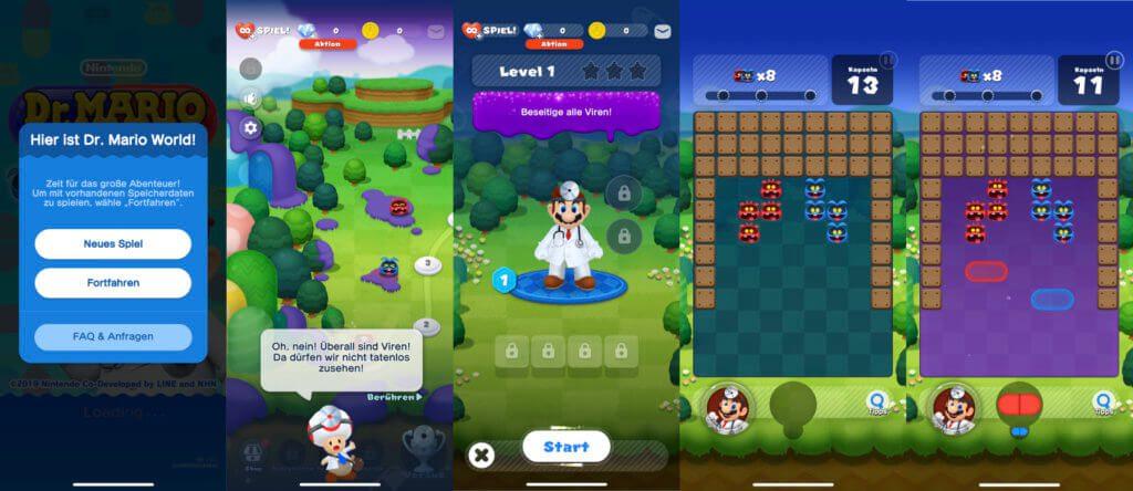 Hochformat, 3D-Grafik und Touch-Bedienung – das ist Dr. Mario World, die iOS- und Android-Neuauflage des Nintendo-Klassikers von NES und Game Boy.