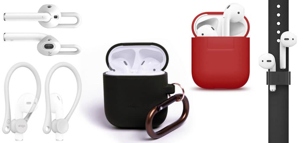 Das elago AirPods-Zubehör umfasst Schutz, Funktionalität und Aufbewahrung. Die Nutzbarkeit der Kopfhörer sowie des Case werden nicht eingeschränkt (Aufladen per Kabel und Qi-Technologie möglich).