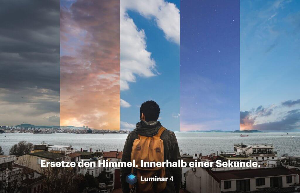 Mit AI Sky Replacement in Skylum Luminar 4 kann man per Mausklick den Himmel austauschen und den Vordergrund entsprechend anpassen (lassen).