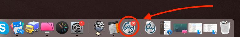 Die Software MacUpdater zeigt direkt im Dock schon an, wieviele Apps auf Aktualisierung warten (Screenshots: Sir Apfelot).