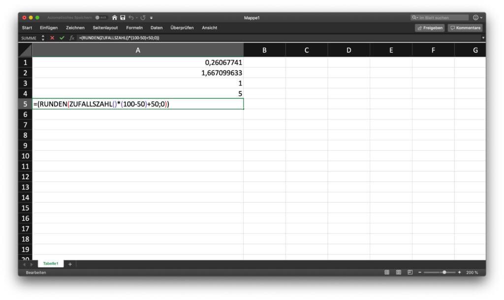 Eine Excel Zufallszahl generieren ist gar nicht so schwer. Hat man die Eingabe einmal verstanden, lassen sich verschiedenste Beispiele ermitteln.