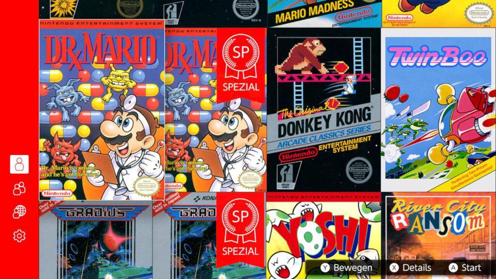 """Die Spiele-Klassiker des """"Nintendo Switch Online""""-Angebots lassen sich nach Belieben anordnen und spielen. Jeden Monat kommen neue Titel dazu."""