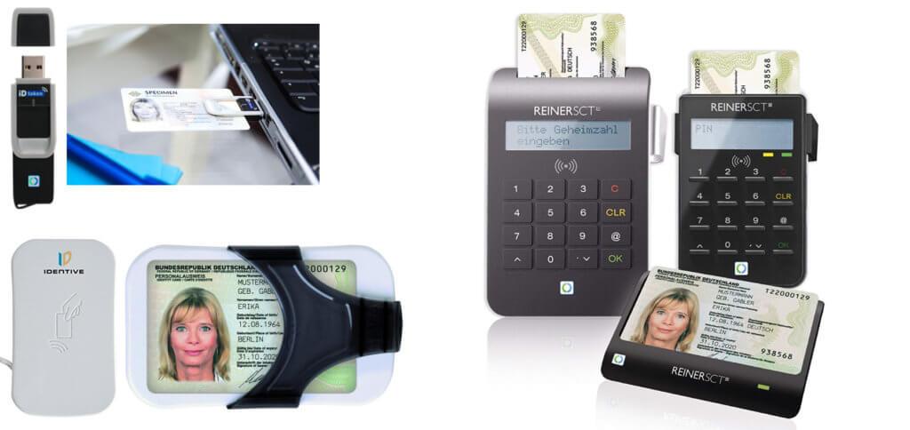 Es gibt verschiedene Ausweis-Leser unterschiedlicher Hersteller. Im Folgenden findet ihr die Empfehlungen vom Bundesamt für Sicherheit in der Informationstechnik (BSI), damit ihr zum Online-Ausweisen nach TR-03119 zertifizierte Personalausweis-Lesegeräte nutzen könnt. Produktbilder: Amazon.de