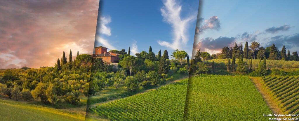 Ob reguläre 4:3 Fotografie oder Panorama; mit AI Sky Replacement in Luminar 4 ist alles möglich.