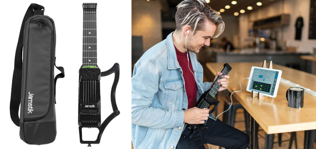Die Zivix Jamstik 7 Midi-Gitarre kann als Smart Guitar zum spielen lernen, als Instrument für die digitale Jamsession und Aufnahme-Gerät für GarageBand-Demos genutzt werden. Jamstik7 Jamstik+